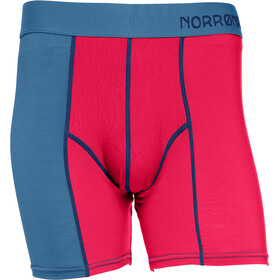 Norrøna Wool - Ropa interior Hombre - rojo/azul